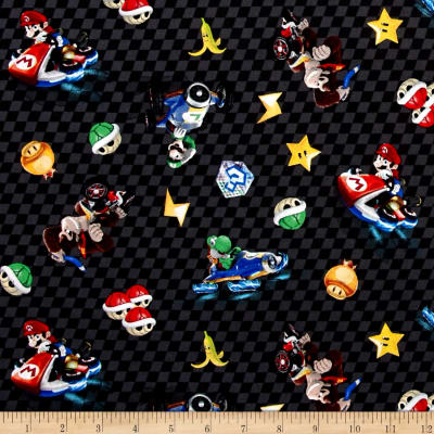 Nintendo Mario Kart 8 Character Checkered Toss Black