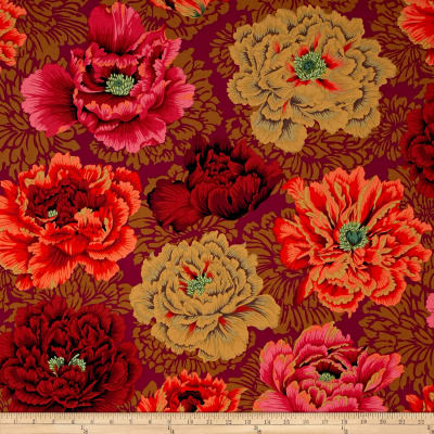 Kaffe Fassett Collective Brocade Peony Autumn