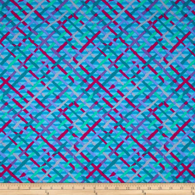 Kaffe Fassett Collective Mad Plaid Turquoise