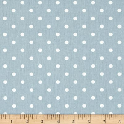 Premier Prints Mini Dots Twill Weathered Blue/White
