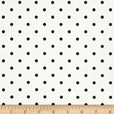 Premier Prints Mini Dots Twill White/Blue