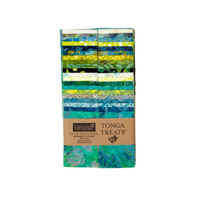 "Timeless Treasures Tonga Treats Lagoon 2.5"" Strips"