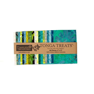 "Timeless Treasures Tonga Treats Lagoon 5"" Charm Pack"