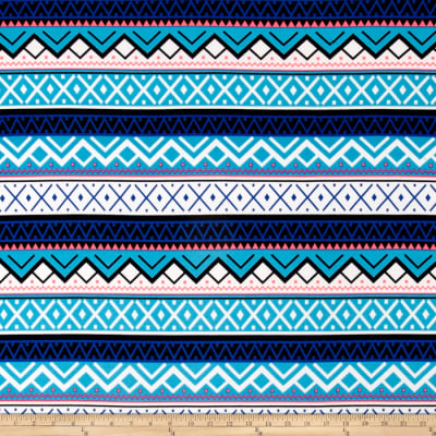 Stretch ITY Knit Aztec Blue Shimmer