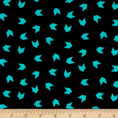 Stretch ITY Knit Aqua Arrows