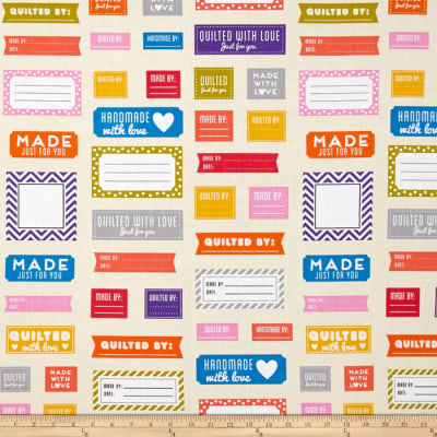 Kaufman Made for You Quilt Labels Multi