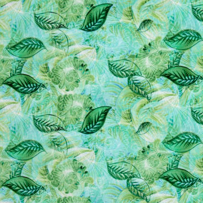 Judy Niemeyer Wildflowers Swirl Leaf Mint