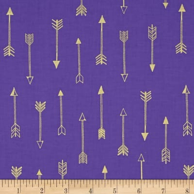 Michael Miller Arrow Flight Metallic Arrows Grape