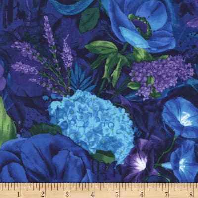 Timeless Treasures Midnight Mixed Floral