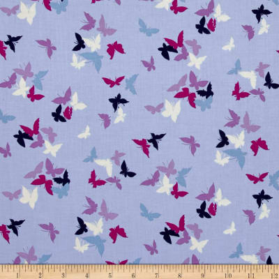 Michael Miller Sea Holly Flutter by Clouds Lilac