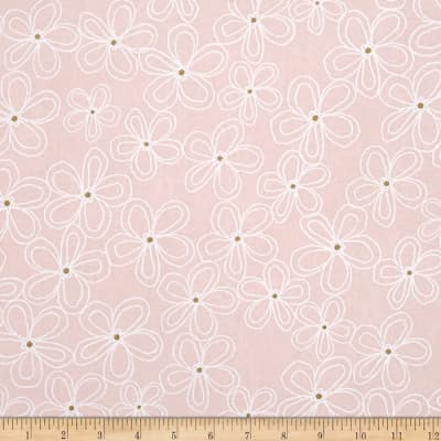 Michael Miller Wee Sparkle Metallic Lacey Daisy Confection