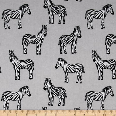 Michael Miller Baby Zoo Flannel Zippy Zebra Cloud