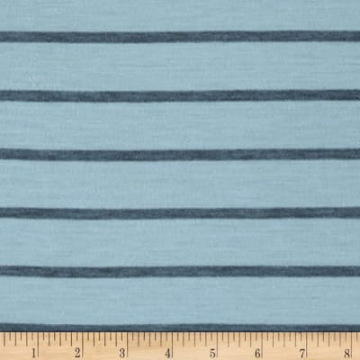 Jersey Knit Stripe Baby Blue