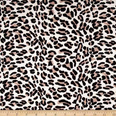 Jersey Knit Animal Print Black/Tan