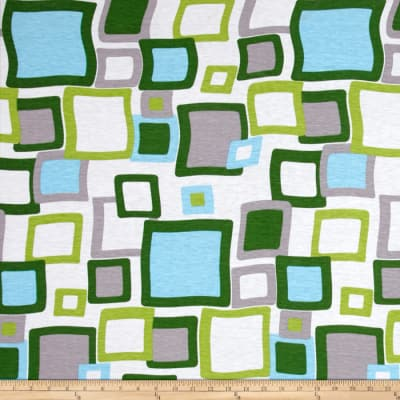 Jersey Knit Abstract Squares