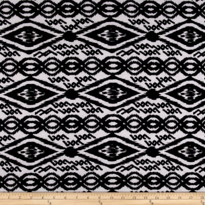 Jersey Knit Aztec Link White Black