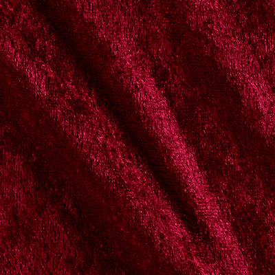 Stretch Panne Velvet Velour Wine