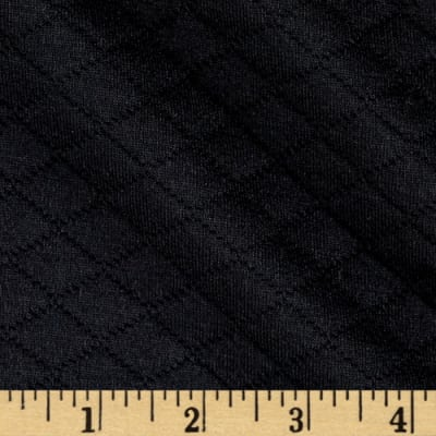 Knit Quilt Black Diamond