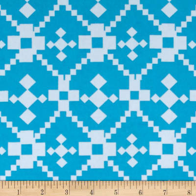 Stretch ITY Printed Geo Square Pastel Blue