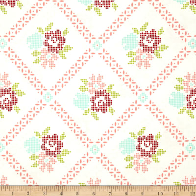 Moda Vintage Picnic Mayberry Mum Cream/Coral