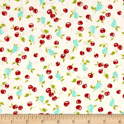 Moda Vintage Picnic Cherries & Pear Cream