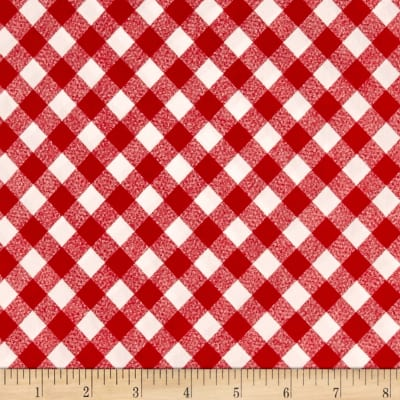 """Moda 108"""" Wide Quilt Backing Check Red"""