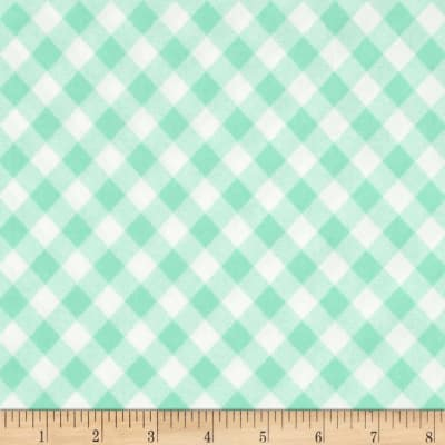 "Moda 108"" Wide Quilt Backing Check Aqua"