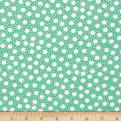 Moda Hometown Girl Dots Aqua Sky