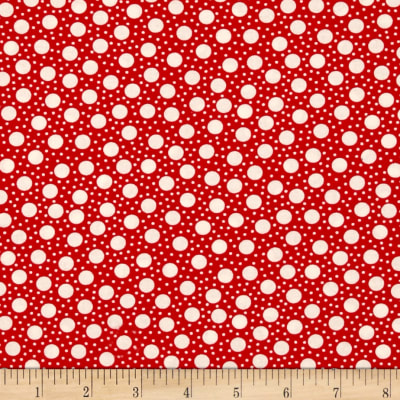 Moda Hometown Girl Dots Cherry