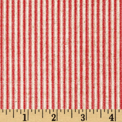 Drift Away Ticking Stripe Red