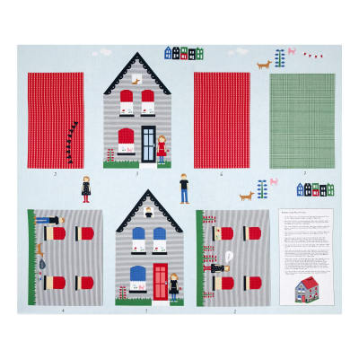 Neighborhood House Pillow 35 In. Panel Multi