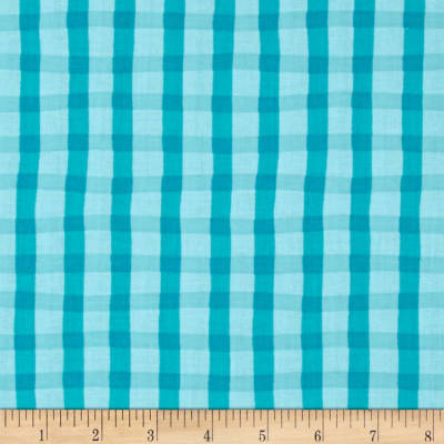 Animal ABC's Plaid Turquoise