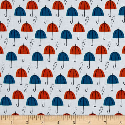 Cloud 9 Organic Spring Walk Umbrella Rain Orange
