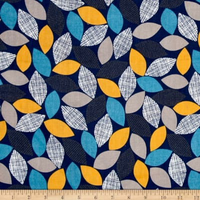Cloud 9 Organic Double Gauze Threads Woodland Weaves Navy