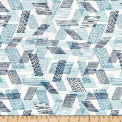 Cloud 9 Organic Double Gauze Threads Warp and Weft Teal