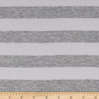 Stripe Jersey Knit Blush/Gray