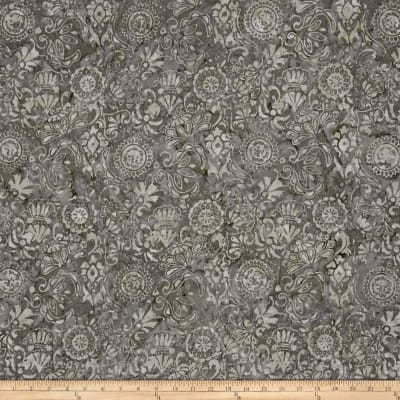 Timeless Treasures Tonga Batik Gotham Applique Gray