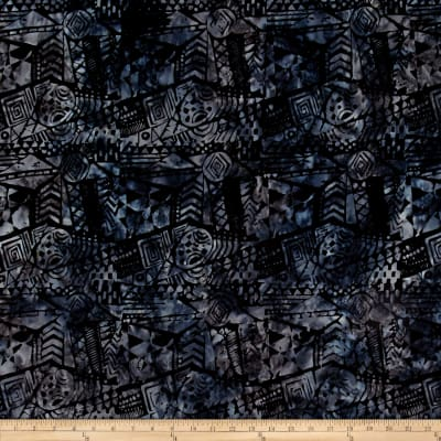 Timeless Treasures Tonga Batik Gotham Tribal Cloth Black