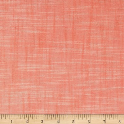 Kaufman Manchester Textured Yarn Dyed Chambray Solid Shirting Peach