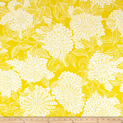 Kaufman Mystic Canvas By Valori Wells Floral Bouquet Curry