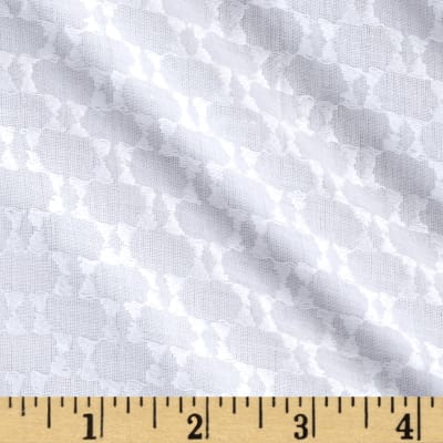 Sheer Abstract Dot White