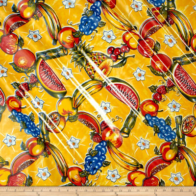 Oilcloth Tropic Yellow