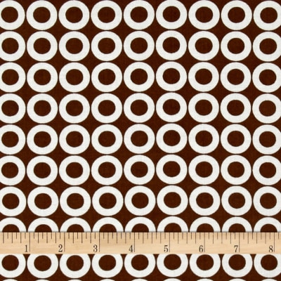 Kaufman Spot On Lifesaver Dots Brown