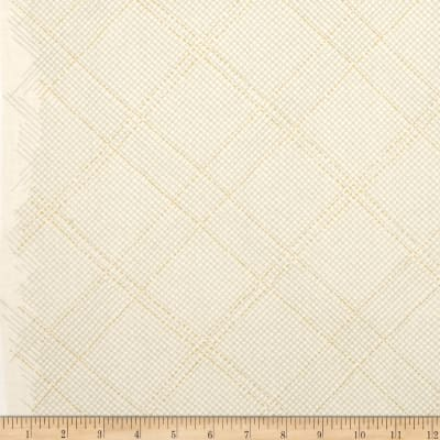 Kaufman Carkai Metallic Diagonal Plaid Bone
