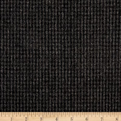 Telio Wool Blend Melton Fancy Check Weave Black/Gray