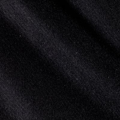 Telio Wool Blend Melton Fancy Solid Black