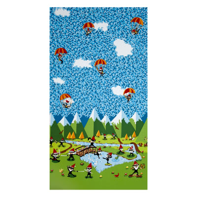 Michael Miller Ninja Gnomes Border Blue