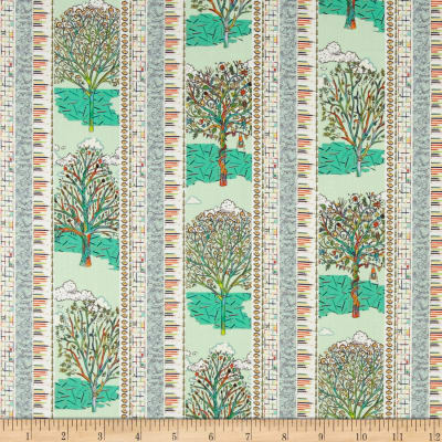 Liberty Fabrics Tana Lawn Forest Stripe Lime