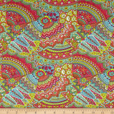Liberty Fabrics Dufour Jersey Knit Jenny's Fan Light Green