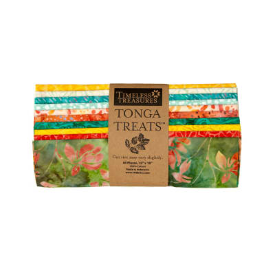 "Timeless Treasures Tonga Treat Salsa 10"" Squares"